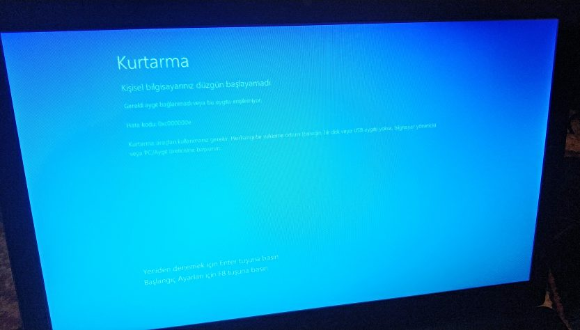 Mavi ekran kurtarma